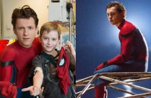 Tom Holland visita un hospital infantil vestido con traje de Spiderman [FOTOS]