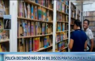Pucallpa: PNP interviene local con más de 25 mil discos de música y video 'piratas'