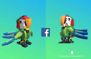 Facebook ya tiene disponible los post de realidad virtual y aumentada