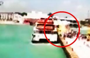 YouTube: Así explotó el ferry en Playa del Carmen en México [VIDEOS]