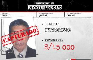 Capturan a requisitoriado por terrorismo en el Vraem