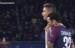 YouTube: Alves y su lamentable gesto contra Cristiano