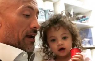 Instagram: Dwayne Johnson junto a su hija en video que enternece a millones