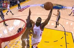 Facebook: James Harden y una sensacional jugada en Warriors vs. Rockets por la NBA | VIDEO