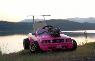 YouTube: Sorpréndete con este kart con diseño de Ford Mustang Barbie | VIDEO
