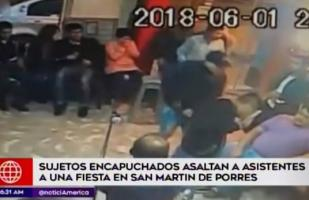 Ladrones robaron en fiesta familiar y cámara lo captó todo [VIDEO]