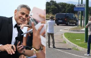 George Clooney tuvo accidente automovilístico en Italia | FOTOS