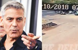 George Clooney: el fuerte video de su accidente se viraliza en YouTube y Facebook