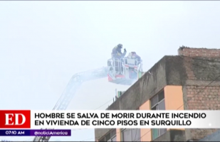 Surquillo: hombre salva de morir en incendio de edificio de cinco pisos [VIDEO]