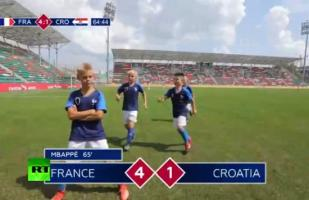 Facebook viral: niños rusos recrearon la final de Rusia 2018 entre Francia y Croacia | VIDEO