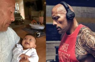 Dwayne Johnson se muestra en desconocida faceta hablándole a su bebe en video familiar