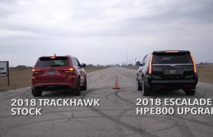 YouTube: Hennessey Escalade se mide frente al Jeep Grand Cherokee Trackhawk