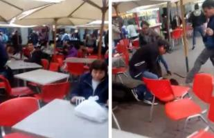 Plaza Norte: impresionante captura de hampones en patio de comidas | VIDEO