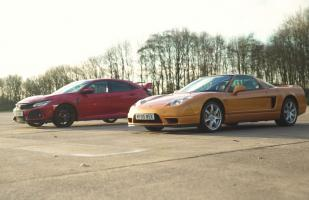 Mira al Honda NSX frente al Honda Civic Type R [VIDEO]