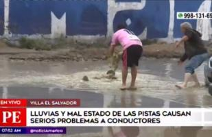 Intensa lluvia provoca aniegos y accidentes en calles de VES| VIDEO