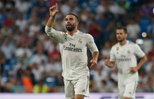 Real Madrid vs. Getafe: Carvajal anotó el 1-0 con un excelente cabezazo | VIDEO