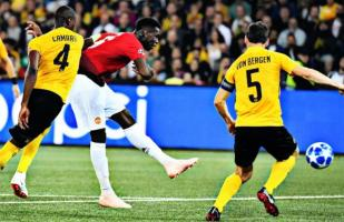 Manchester United vs. Young Boys: Pogba anotó el 1-0 con golazo al ángulo | VIDEO