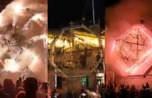 Castillo de fuegos artificiales es quemado al ritmo de la música del Tomorrowland | VIDEO