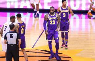 LeBron James consiguió su primera victoria con Los Angeles Lakers por 131-113 frente a los Suns | VIDEO