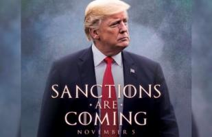 Trump anuncia sanciones a Irán con un tuit al estilo Game of Thrones