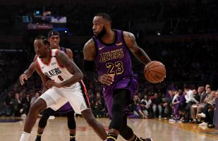 Los Angeles Lakers vencieron 126-117 a los Portland Trail Blazers con actuación estelar de LeBron James
