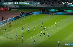 Argentina vs. México EN VIVO: Dybala y el intento de anotar con media tijera | VIDEO