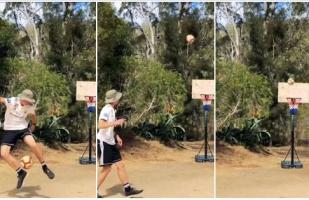 Facebook: australiano consigue lo inimaginable con un balón de fútbol | VIDEO