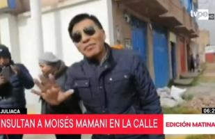 Moisés Mamani recibe insultos en visita a Juliaca [VIDEO]