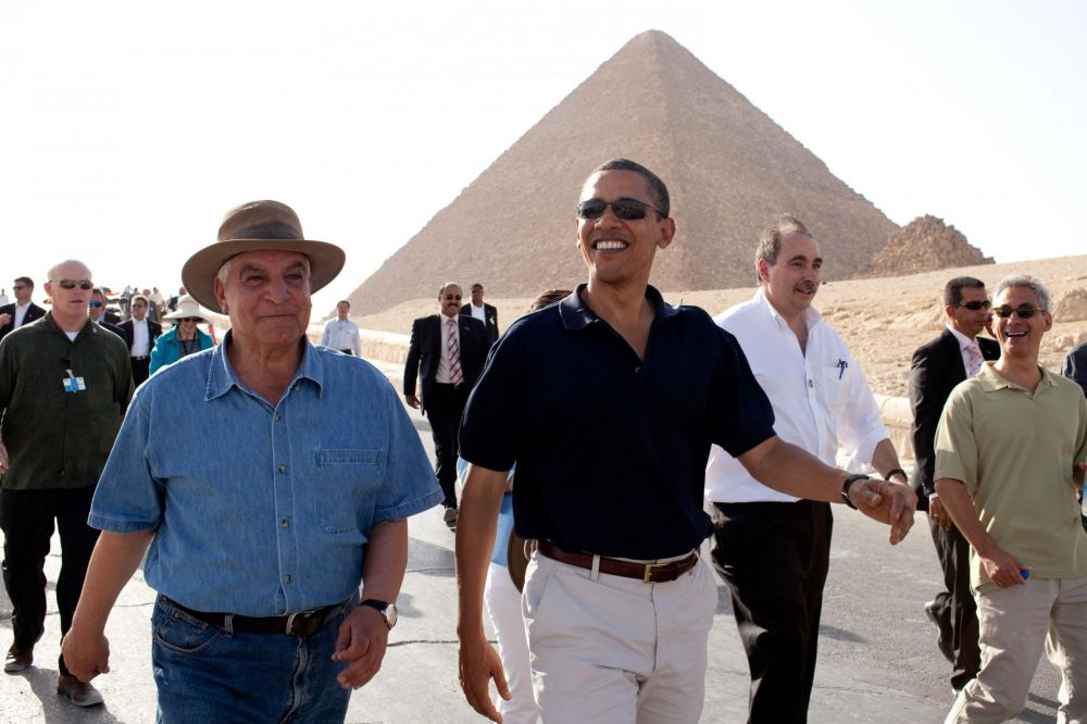 Zahi Hawass y Barack Obama