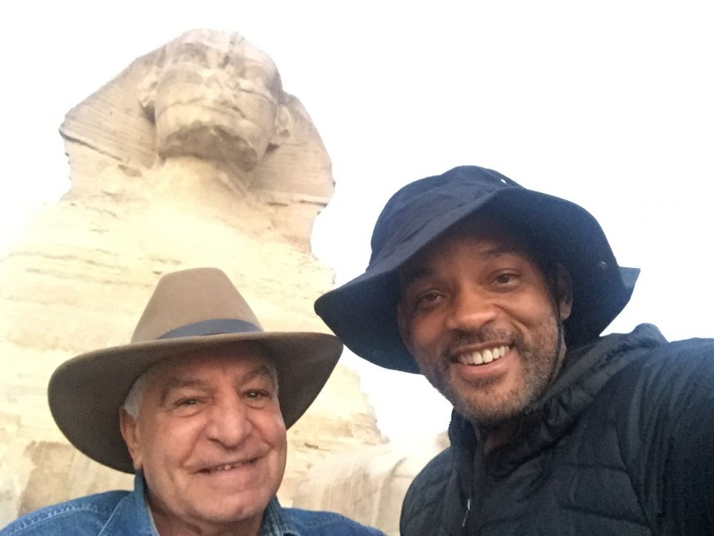 Zahi Hawass y Will Smith