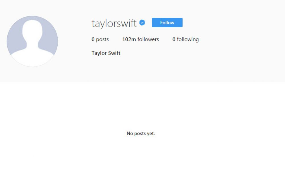 El Instagram de Taylor Swift