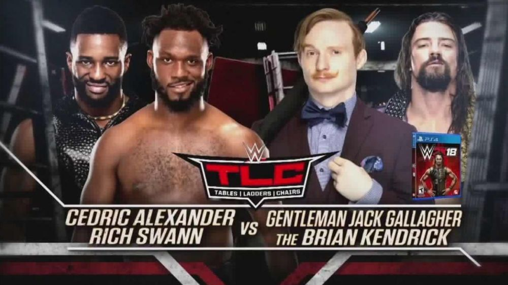 - Cedric Alexander & Rich Swann vs. The Brian Kendrick & Jack Gallagher