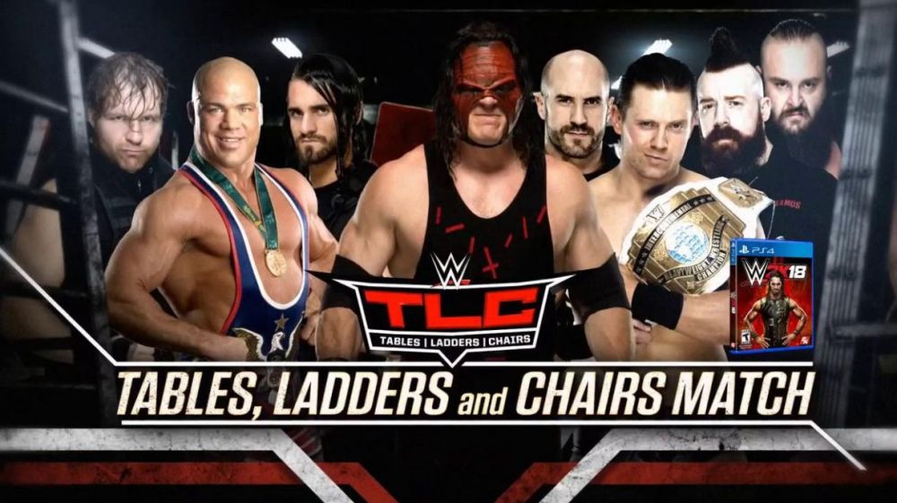 Kurt Angle & The Shield (Dean Ambrose & Seth Rollins) vs. The Miz, Braun Strowman, Kane, Cesaro & Sheamus