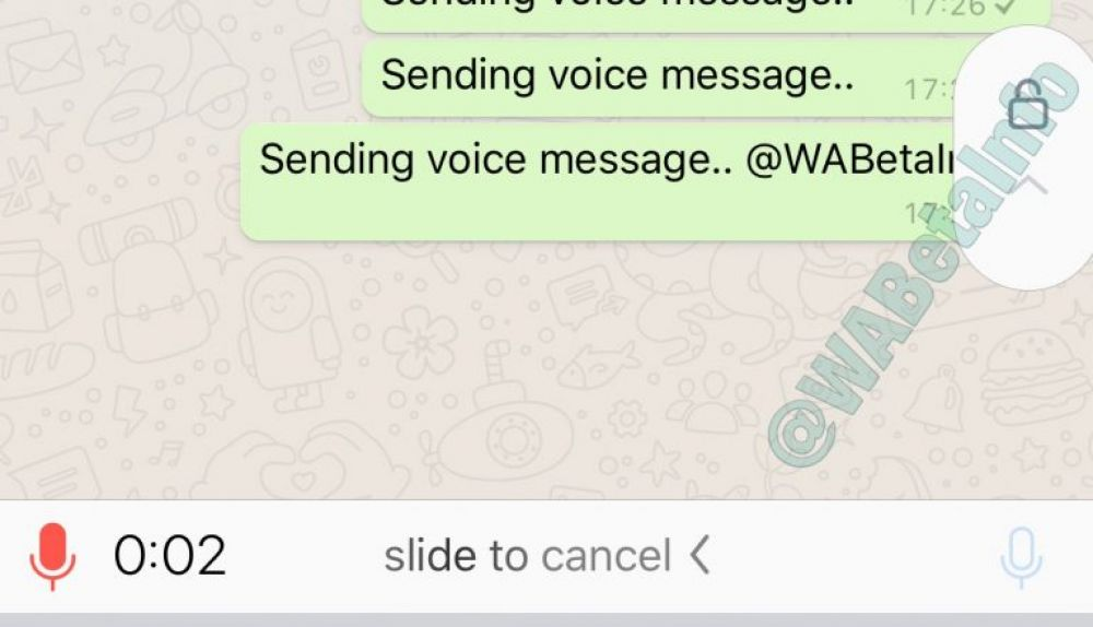 Lock audios WhatsApp