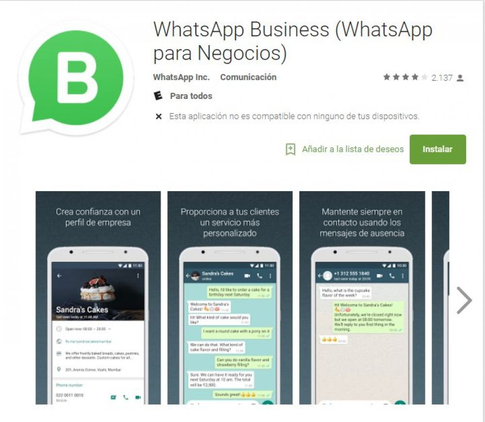 WhatsApp Business (Foto: Google Play)