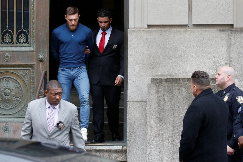 Conor McGregor arrestado. (Foto: AFP)
