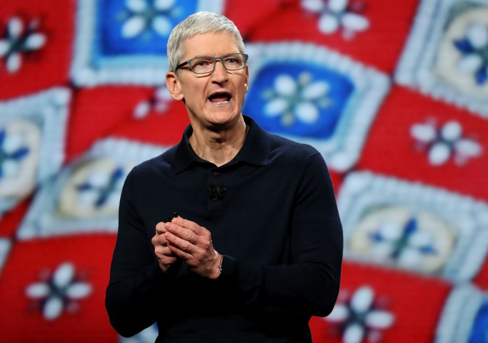 Tim Cook, CEO de Apple, durante la presentación de iOS 12. (Foto: Agencias)