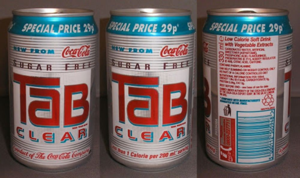 Tab Clear, de Coca-Cola.