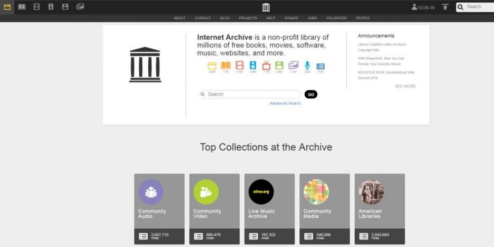 8. Internet Archive