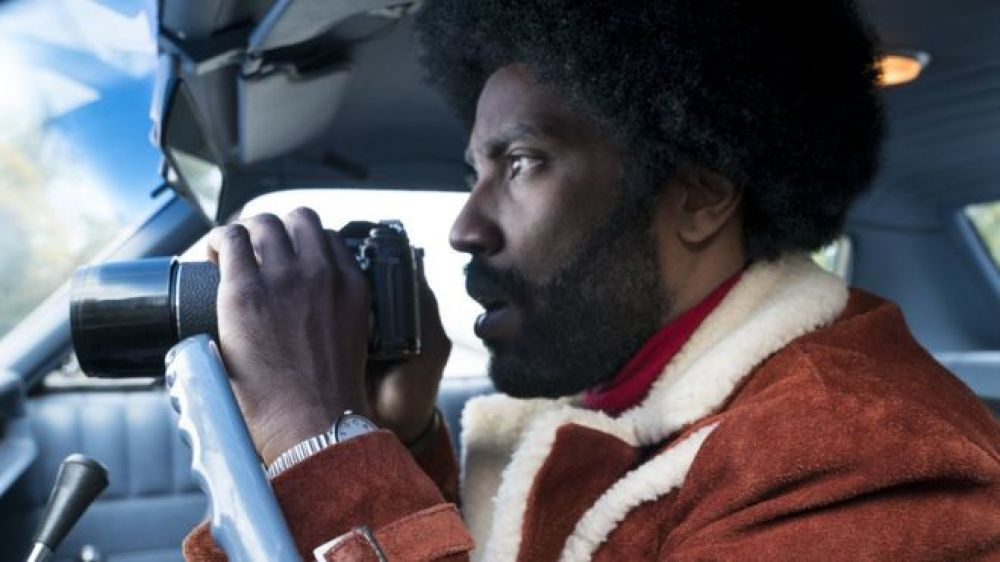 "El actor John David Washington interpreta a Ron Stallworth en la película ""BlacKkKlansman""."