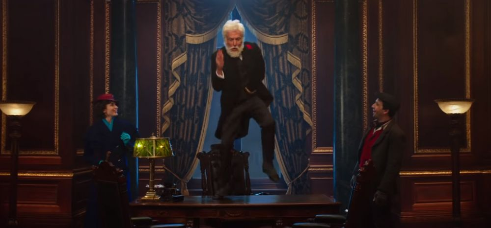 "Dick Van Dyke en ""Mary Poppins Returns"". (Foto: YouTube)"