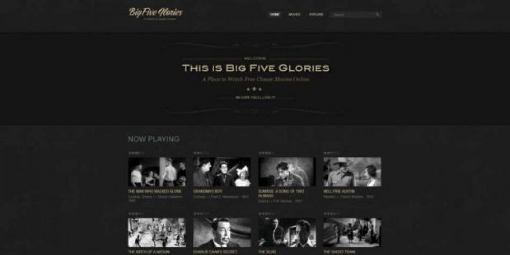 Big Five Glories, películas gratis