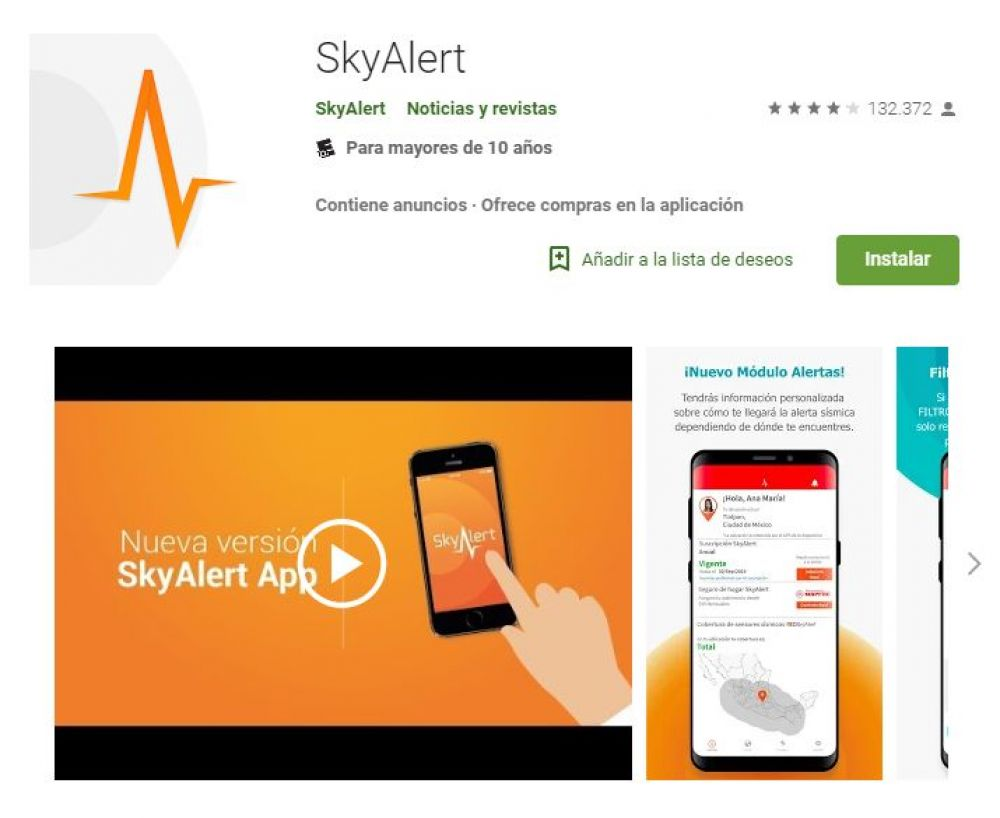 SkyAlert. (Foto: Google Play)