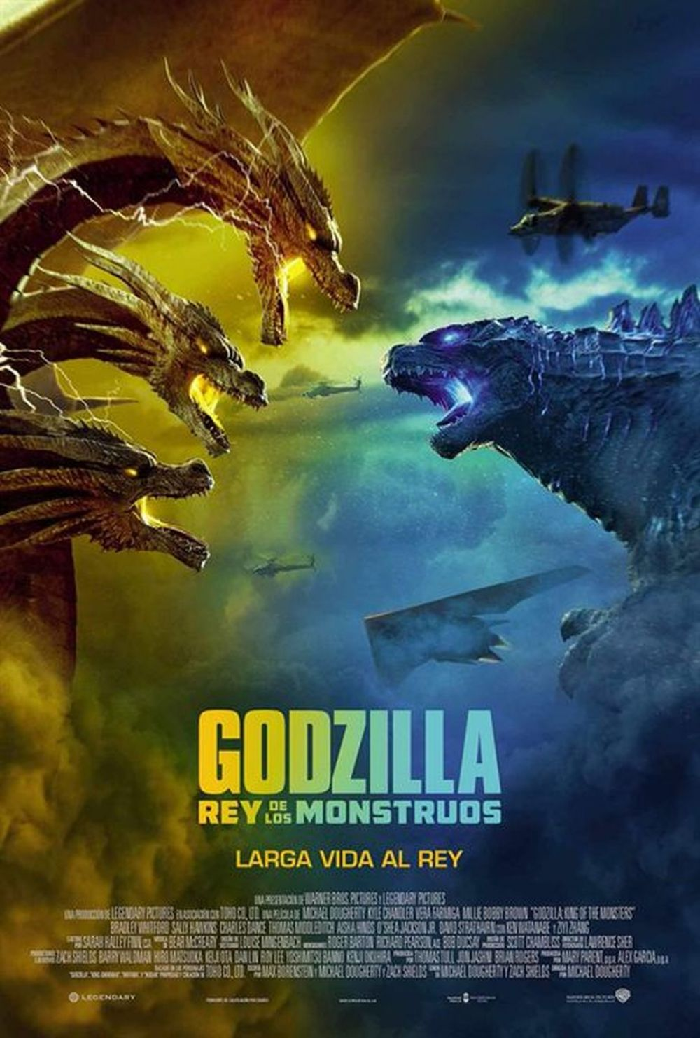Godzilla King of the Monsters | Ghidorah vs Godzilla | Póster