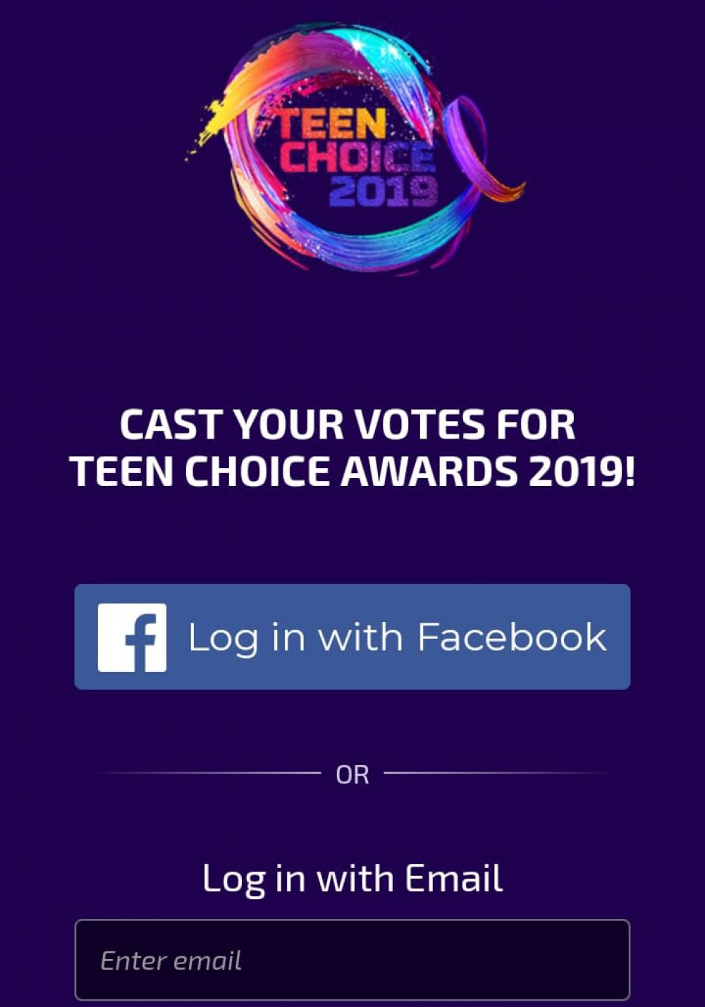 Teen Choice Awards- Cómo votar. (Captura de pantalla)