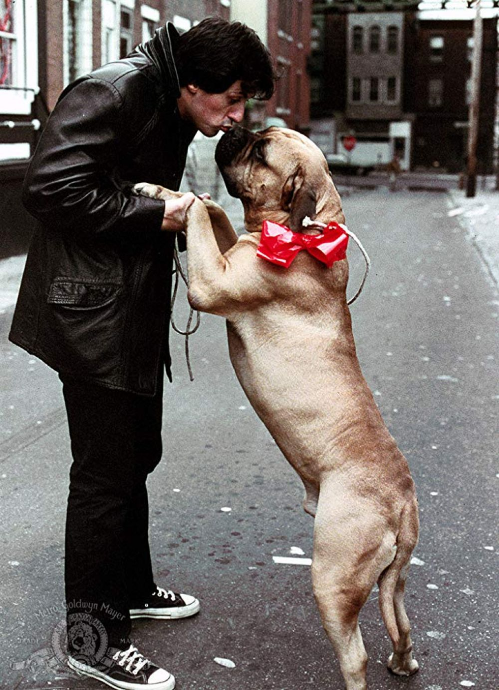 Sylvester Stallone y Butkus Stallone in