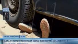 Se escondieron debajo de una combi para evitar que sea decomisada [VIDEO]