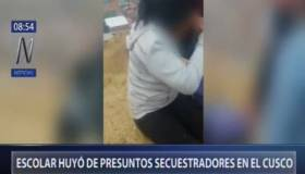Cusco: escolar de 15 años huyó de presuntos secuestradores [VIDEO]