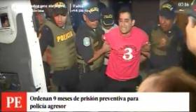 El accidentado traslado del policía agresor de colega [VIDEO]