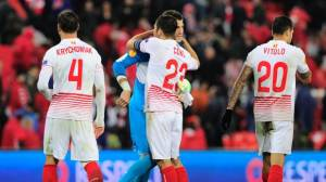 Sevilla venció 2-1 al Athletic Bilbao en ida de Europa League